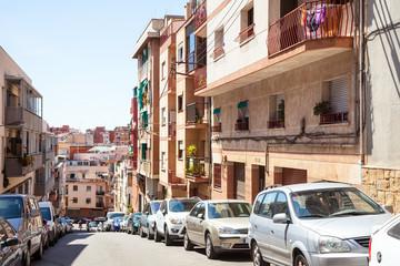 Hilly street of Badalona