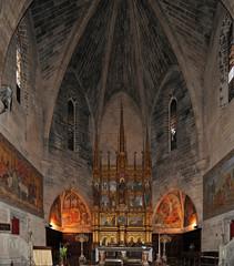 Le choeur de l'église Saint-Jacques à Alcúdia à Majorque