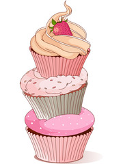 Canvas Prints Fairytale World Pyramid of cupcakes
