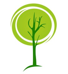 green tree - vector