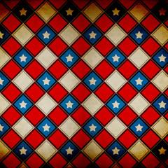 Retro Grunge America Four July Wallpaper Pattern