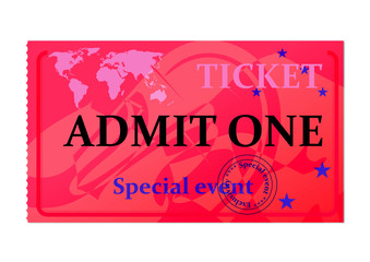 Ticket for special event