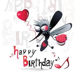 Happy birthday merry mosquito