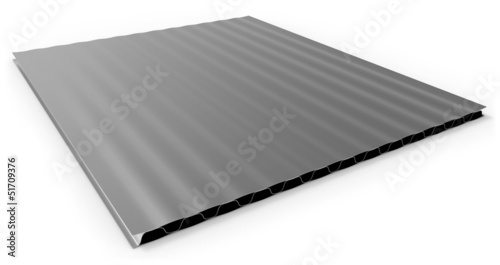 Metal corrugated sandwich panel
