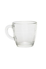 Glass cup isolated