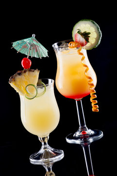 Tequila Sunrise, and Bahama Mama cocktails - Most popular cockta