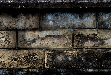 Aged concrete street wall