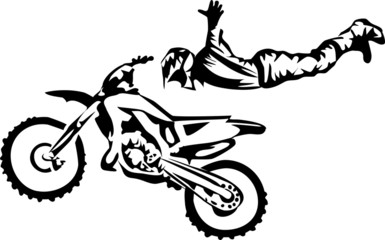Wall Mural - motocross - freestyle