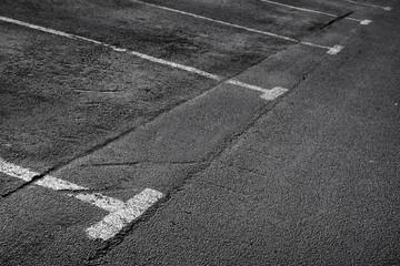 Empty parking places. Background texture