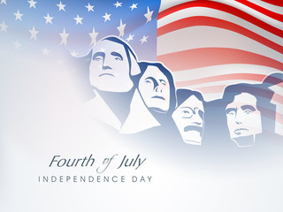Fourth of July American Independence Day background with citizen