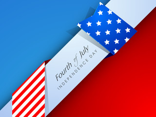 Creative Independence Day background with text Fourth Of July.