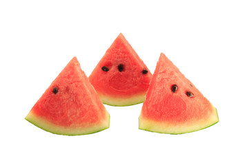 slices watermelon isolated white background