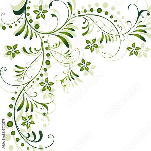 abstrakt floral flora blatt bl tter bl te gr n vektor stockfotos und lizenzfreie. Black Bedroom Furniture Sets. Home Design Ideas