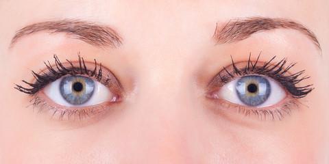 Beautiful close up of a caucasian women's eyes - Caucasian peopl