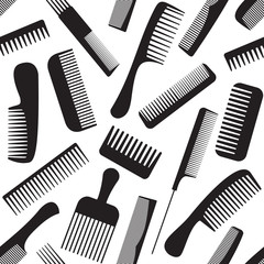 Combs seamless pattern