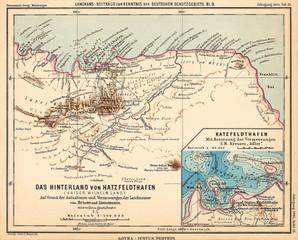 Papua New Guinea retro map