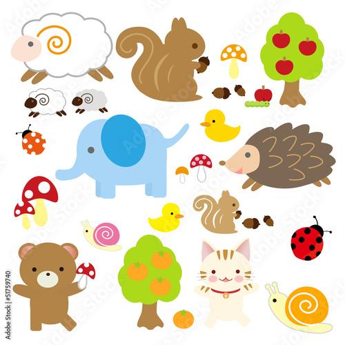 かわいい動物のイラスト ベクター画像 無料ダウンロード
