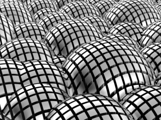 Abstract metal spheres background