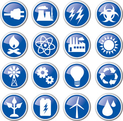 energy power icon set