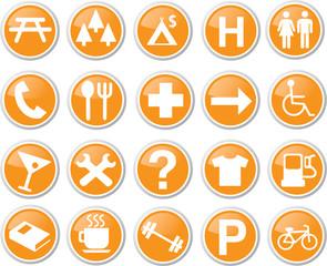 map icon set orange