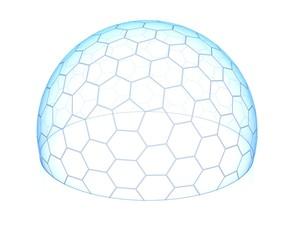 hexagonal transparent dome