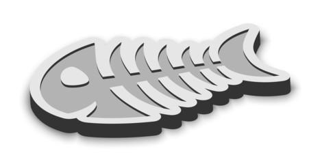metal fish bone