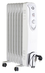 Isolated white oil radiator