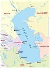 Spoed Foto op Canvas Wereldkaart Caspian Sea