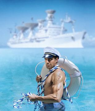 Sexy sailor guy