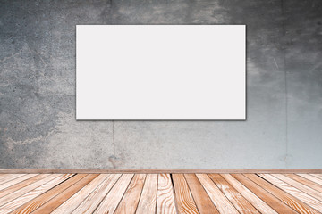 Betonwand mit Bild 16:9 - Concrete Wall with Picture 16:9