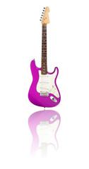 E-Gitarre mit Spiegelung, pink