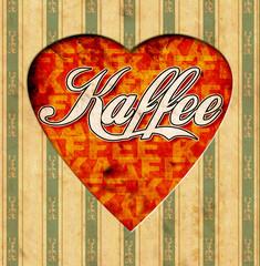 Vintage Heart - Kaffee