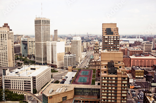 Fototapete Downtown Detroit