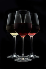 Red cherry and white wine
