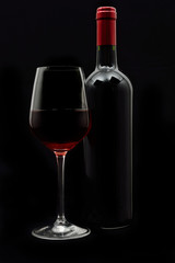 A set of red wine
