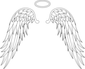 wings angel tattoo design