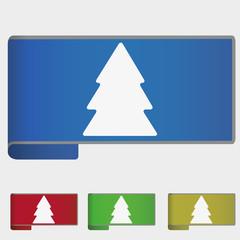 Vector illustration web bookmark - fir tree