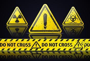 Old Danger sign