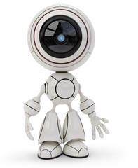 Spoed Foto op Canvas Robots cute robot