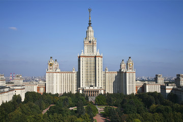 The University of Moscow. The view from the top