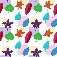 A wallpaper with colorful leaves