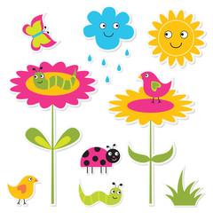 Nature stickers set
