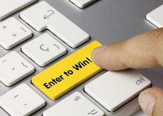 enter to win! keyboard key finger