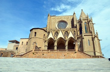 Collégiale Sainte Marie, Manresa, vue d'ensemble