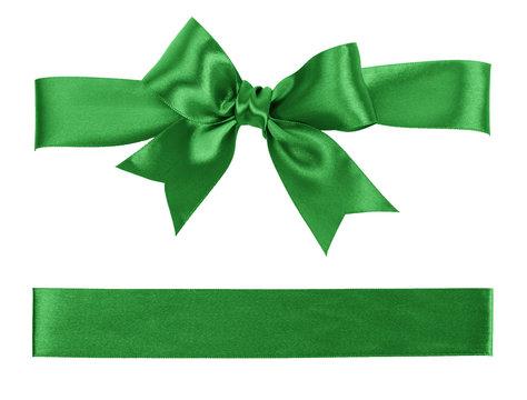 green bow and ribbon