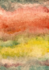 Abstract red and yellow background from watercolor