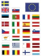 European flags button