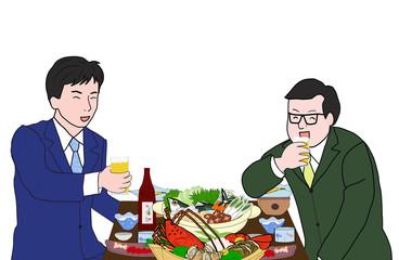 男二人で飲み会