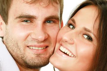 Beautiful affectionate couple smiling