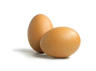 Two egg on isolated
